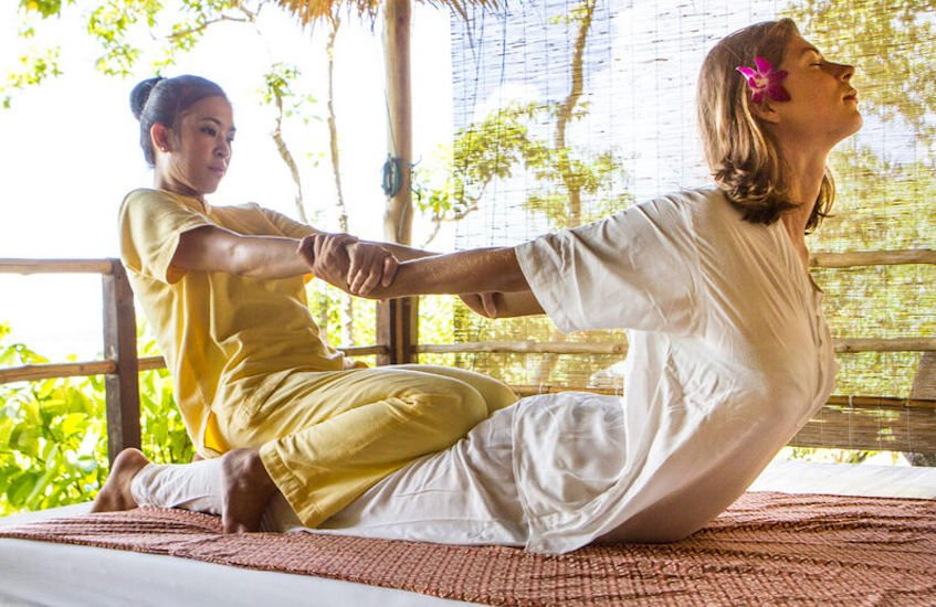 Traditional Thai Massage Therapy at Kamalaya, Koh Samui, Thailand