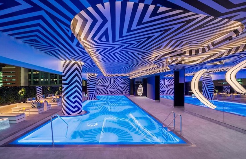 The Roof Top Pool at the W Hotel