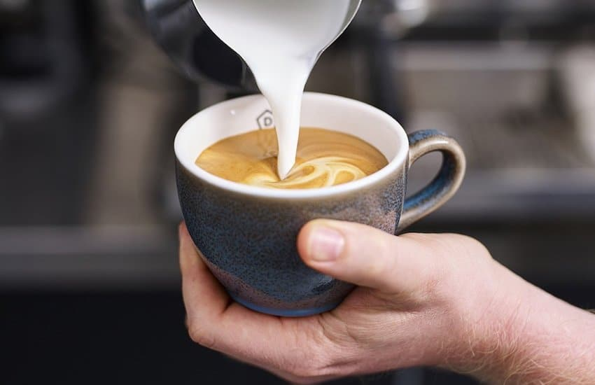 Danes Coffee being poured